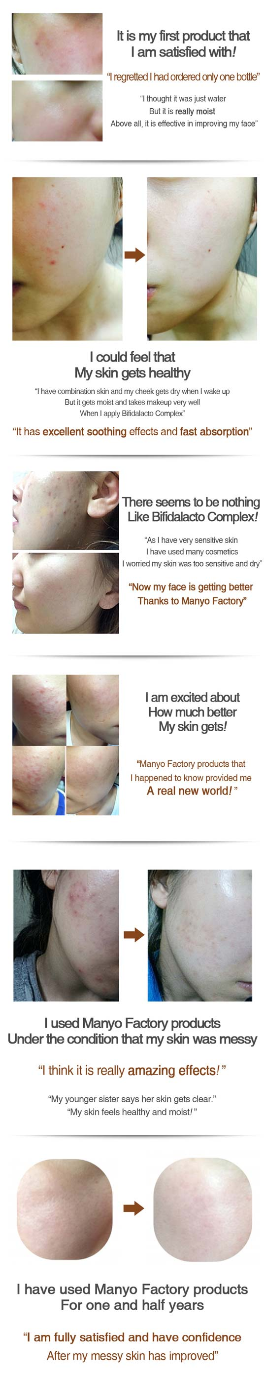 bifida ampoule essence customer feedback before and after use