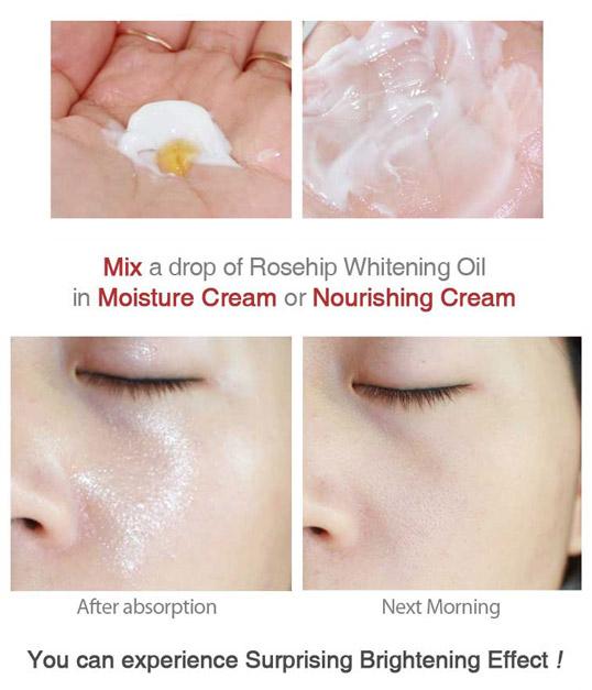 Rosehip oil suggested using method