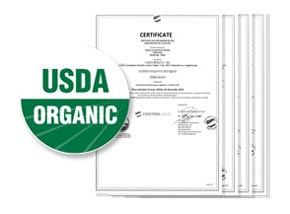 USDA Oragnic certified product