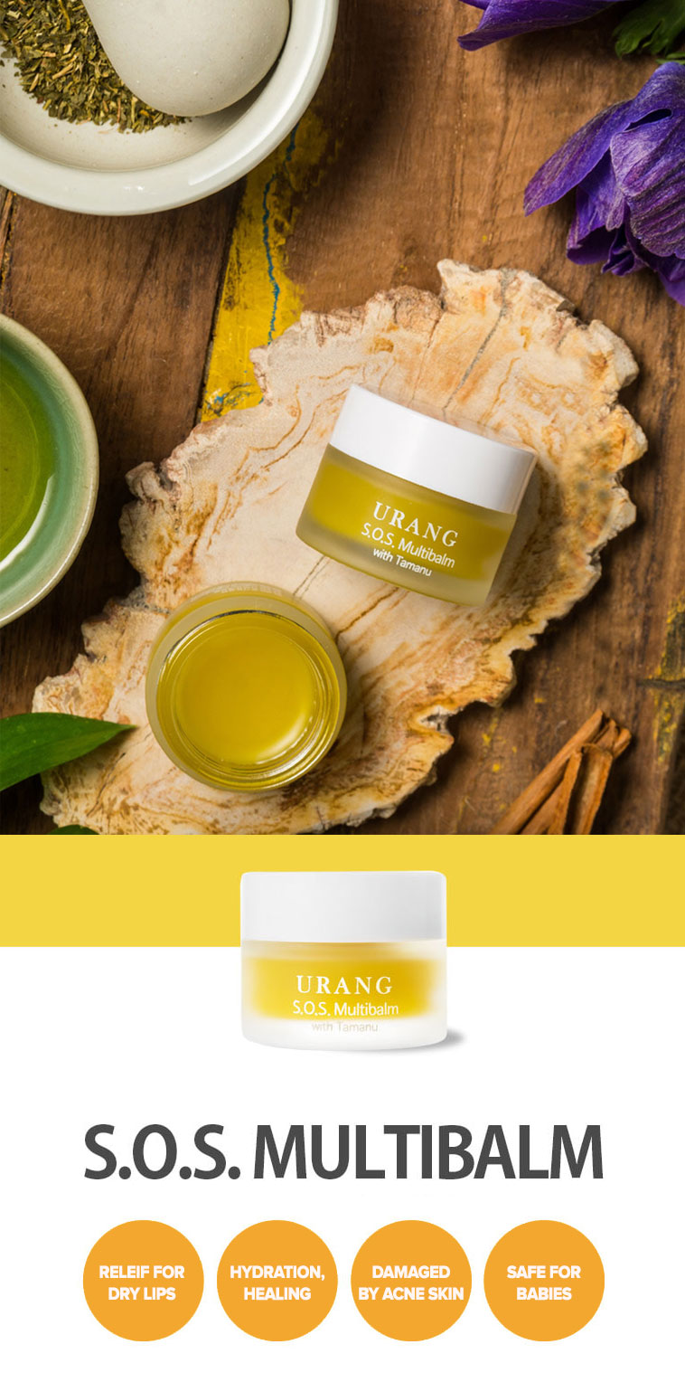 95,5% organic multitasker balm for dry lips, acne scars, rough elbows and knees, safe for babies and pregnant