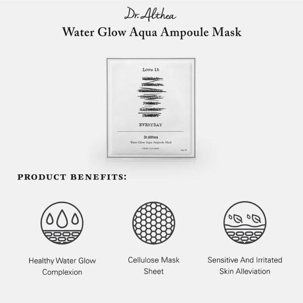 Dr.Althea Water Glow Aqua Ampoule Mask Увлажняющая ампульная маска для лица 27г (5шт) 1