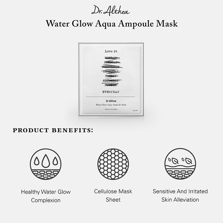 Dr.Althea Water Glow Aqua Ampoule Mask features and benefits