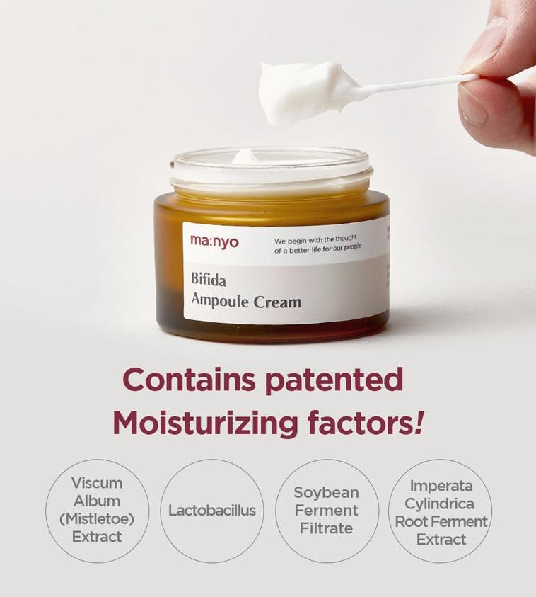 patented moisturizing factors