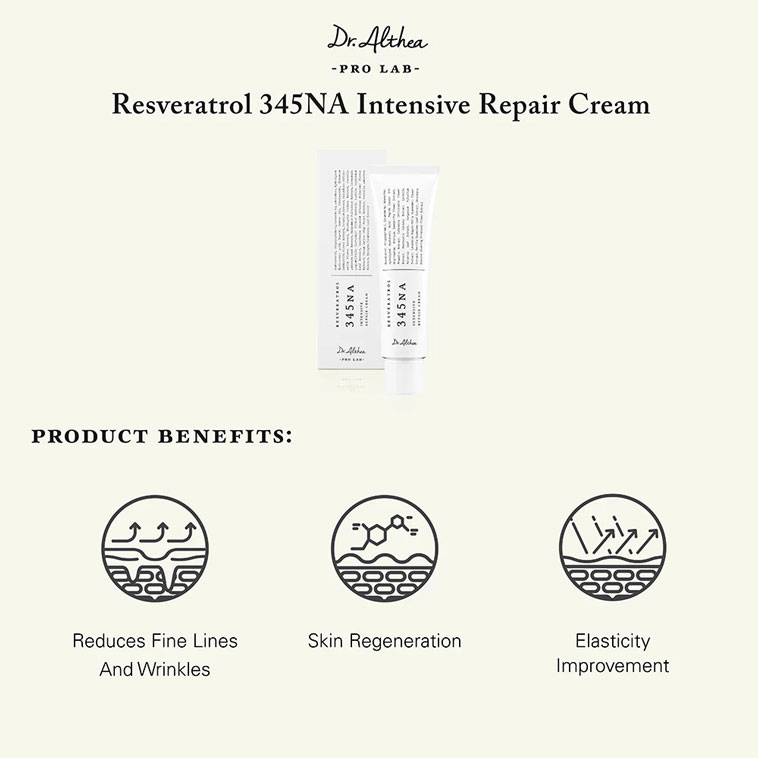 Dr. Althea Resveratrol 345NA Intensive Repair Cream product benefits