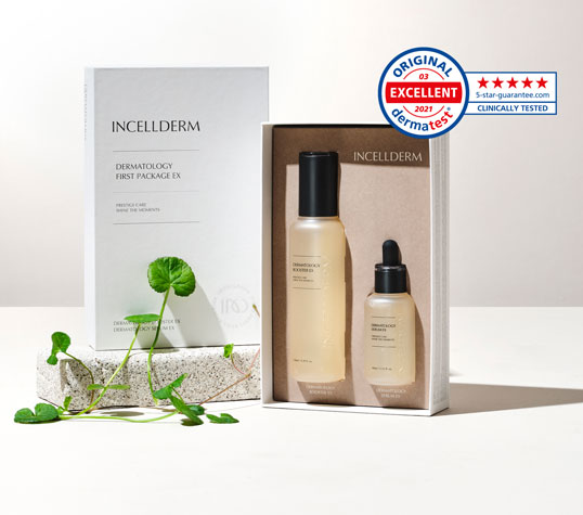 new Incellderm Booster and Serum dermatology package