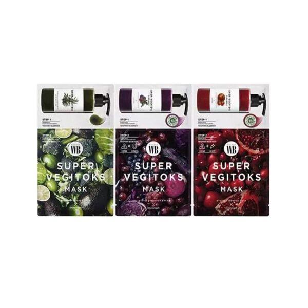 skin cleansing and detox set Vegitoks Mask Pack