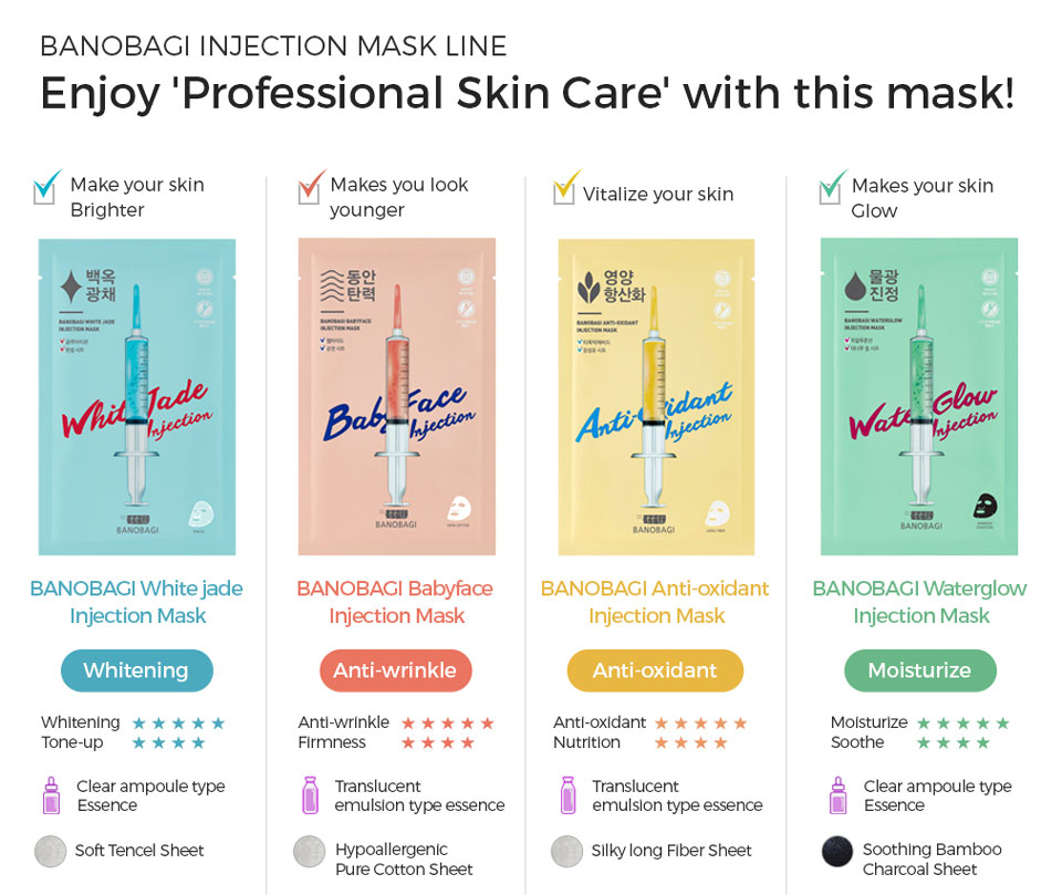banobagi injection mask line 4 products