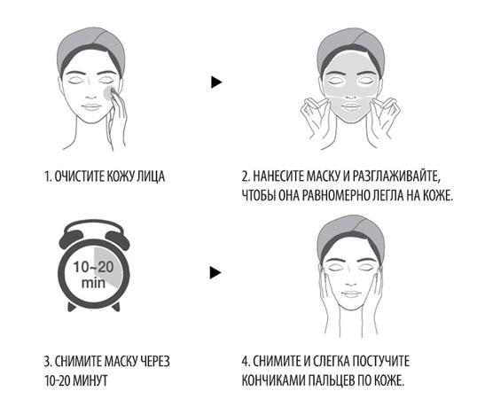 Применение маски с фольгой
