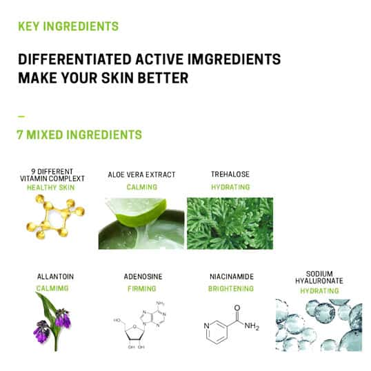 key ingredients of the mask