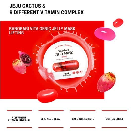 Banobagi Vita Genic Jelly Mask Lifting jeju cactus and vitamins