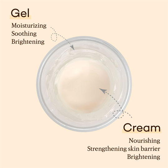 Rice Pure Gel and Cream texture