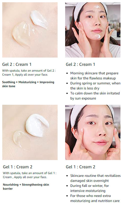 how to mix gel and cream